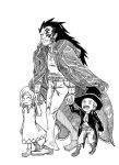Monkey D. Dragon with Sabo and Koala by Darkborne-Lines