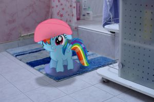 Dashie's first bath (MLP in real life) by StormXF3