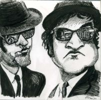 Blues Bros w Cadillac by donaldmatlack