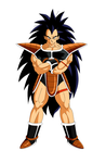 Raditz colored by Moffett1990