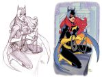 Batgirl Sketch + Finished Art by Tarzman