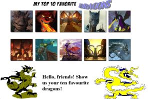 Top ten dragons meme by TheoneColdSpark