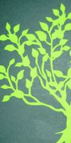 Bookmark - Green Tree by zippybluedwarf