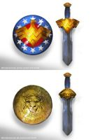 Wonderwoman Prime Sword Shield by marconelor