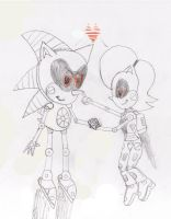 Robotocized Sonic and Sally: Ture Love never dies by ClassicSonicSatAm