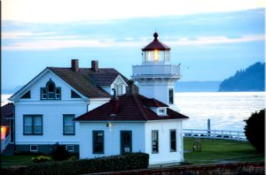 Lighthouse lit by ShannonCPhotography