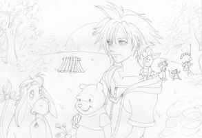 100 Acre Wood - Outlines by Rooro22