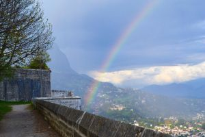 double rainbow over grenoble II by silk38