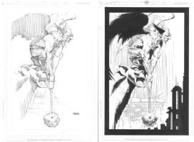 Hawkman_before+after by MichaelBair