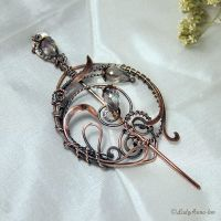 Copper Brooch Tenderness by Egarimea