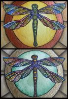 ATCs: Dragonflies II by Athalour