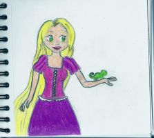 Rapunzel and Pascal:) by LittleMissBrynne