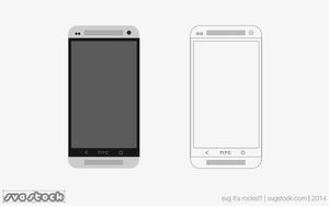 HTC One Flat by SVGStock