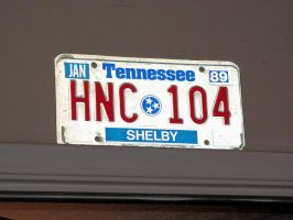 Old Tennessee License Plate by BigMac1212