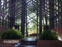 Inside Thorncrown Chapel by SD-DreamCrystal