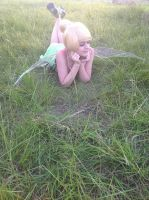 Day dreaming of the mainland:Tinker bell cosplay by Iris-Iridescence