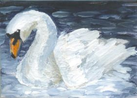 ACEO - Swan by Snapdragoon