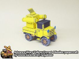 papercraft Advance Wars Yellow Comet Missiles by ninjatoespapercraft