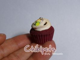 Tiny handmade red velvet  cupcake by Chibi-pets