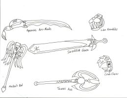Zodiac Weapons Concepts 1-6: GS by BlackCarrot1129