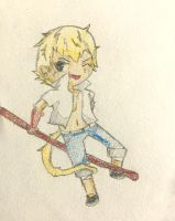 Sun Wukong Chibi by MacabreMage