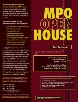 UPWP Open House Flyer by knoonan