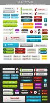 31 FREE Buttons PSD file by M3-f-web