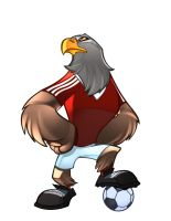 BENFICA FOOTBALL MASCOT by zaratus
