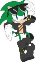 Scourge with Evil Sonic Design by MetalshadowN64