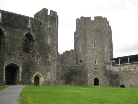 Caerphilly Castle 4 by Hrivalasse-stock