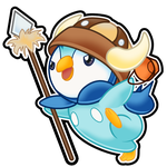 Piplup Halloween Sticker by The-Blue-Pangolin