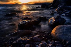 East Shore Tahoe Mid April by sellsworth