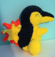 Cyndaquil Crochet Amigurumi by dawnschafer