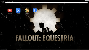 Old Equestria Google Chrome theme W/o littlepip by Daring-Dash-Hoof
