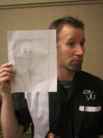 Steve Wolbrecht holding Quick Drawing by Poorartman