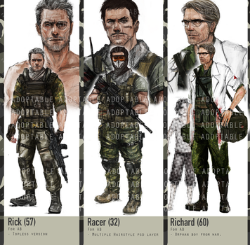 [Closed] [Auction] Human -  Theme Military men. by 13Q35