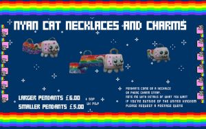 Nyan Cat Pendants by GarnetWeavile461