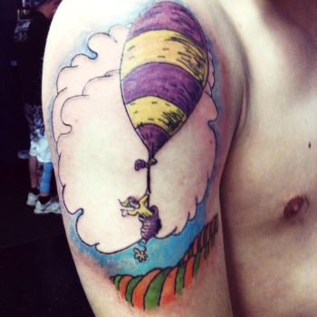 Oh the Places You'll Go tattoo by BettyBoopEyes