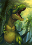 T-rex by Tomycase