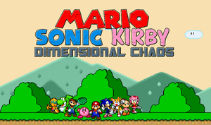Mario, Sonic, Kirby Dimensional Chaos! Poster by Aquamimi123