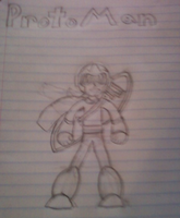 Proto man Drawing by NightshadeAxl
