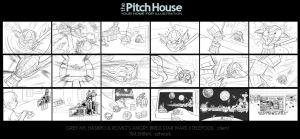 Angry Birds Star Wars II Storyboards by timshinn73