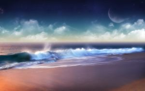 The Moon Beach by Dedese