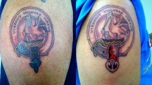 Family crest tattoos by brdlva