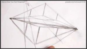 How to draw two point perspective 011 by drawingcourse