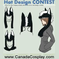 Grinning Wolf Hat Design - Hat Contest Entry by Casteole