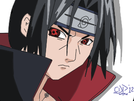 Itachi Uchiha Coloured by gaarauchiha86
