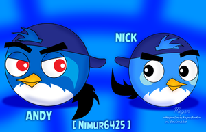 ~Art Trade~: Nick and Andy by MeganLovesAngryBirds