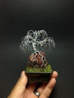 Weeping mame ROR wire bonsai tree by Ken To by KenToArt