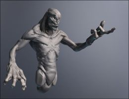 Alien/monster sculpt by Grek-28